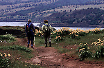 Columbia River Gorge, National Scenic Area, Tom McCall Preserve hosts several indigenous species of flora in a fragile ecosystem.  At Rowena.