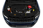 Car Stock 2021 JEEP Compass S 5 Door SUV Engine  high angle detail view
