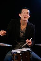 Hugo St-Cyr a la batterie<br /> <br /> CREDITS OBLIGATOIRES :<br /> Photo (c)  2008,  Pierre Roussel<br /> Maquillage, coiffure et stylisme : Vincent Morin