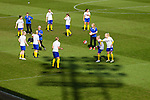 Doncaster Rovers Belles 1 Chelsea Ladies 4, 20/03/2016. Keepmoat Stadium, Womens FA Cup. Doncaster players warming up. Photo by Paul Thompson.