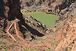 South Kaibab Trail descending to the Colorado River and the Black Bridge, Grand Canyon National Park, northern Arizona. .  John leads hiking and photo tours throughout Colorado. . John offers private photo tours in Grand Canyon National Park and throughout Arizona, Utah and Colorado. Year-round.