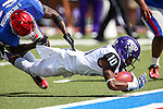 TCU Horned Frogs wide receiver Desmon White (10) in action during the game between the TCU Horned Frogs and the SMU Mustangs at the Gerald J. Ford Stadium in Fort Worth, Texas. TCU defeats SMU 56 to 0.