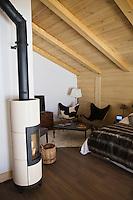 Europe/France/Rhone-Alpes/74/Haute-Savoie/Megève:   Détail Chambre de l'Hotel-Restaurant d'Emmanuel Renaut Flocons de Sel, rte de Rochebrune