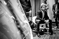 """Fabian Cancellara waiting to go on stage<br /> <br /> Rouleur Classic London 2019<br /> """"The World's Finest Road Cycling Exhibition""""<br /> <br /> ©kramon"""