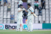 Kane Williamson, New Zealand and Ross Taylor, New Zealand got their team home to win the Final of the World Test Championship during India vs New Zealand, ICC World Test Championship Final Cricket at The Hampshire Bowl on 23rd June 2021