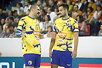 Bosnia Herzegovina's Muhamed Toromanovic (l) and Marko Tarabochia during 2018 Men's European Championship Qualification 2 match. November 2,2016. (ALTERPHOTOS/Acero)
