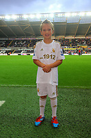 Pictured: Child mascot. Tuesday 28 August 2012<br /> Re: Capital One Cup game, Swansea City FC v Barnsley at the Liberty Stadium, south Wales.