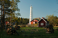 Rustic, springtime morning scene at Säppi Island Lighthouse in the Gulf of Bothnia, Finland.