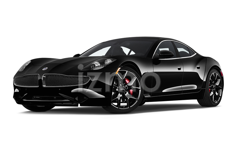 Stock pictures of low aggressive front three quarter view of 2019 Karma Revero - 4 Door Sedan Low Aggressive