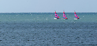 18 SEP 2011 - LA BAULE, FRA - Hobie Cats sail off the coast of La Baule in France (PHOTO (C) NIGEL FARROW).***********************************.PAYMENT REQUIRED ON USE.***********************************.+44 (0) 1449 615160  (TELEPHONE).+44 (0) 7770 792143  (MOBILE).photography@nigelfarrow.com.www.nigelfarrow.com.1 Oak Cottages  Union Road  Onehouse .Stowmarket  Suffolk  IP14 3EH  England