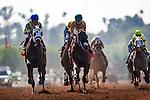 May 30 2015:  Moreno and Cornelio Velasquez race in the Californian Stakes at Santa Anita Park in Arcadia CA. Alex Evers/ESW/CSM