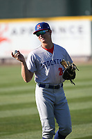 Tyler Soderstrom (21) of the Stockton Ports before a game against against the Rancho Cucamonga Quakes at LoanMart Field on May 26, 2021 in Rancho Cucamonga, California. (Larry Goren/Four Seam Images)