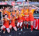 England Team won the Cup during the Women Final on Day 2 of the 2012 Cathay Pacific / HSBC Hong Kong Sevens at the Hong Kong Stadium in Hong Kong, China on 24th March 2012. Photo © Felix Ordonez / The Power of Sport Images