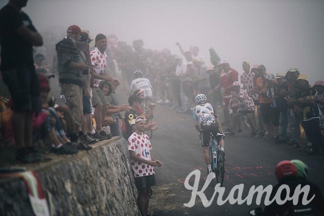 Jan Bakelants (BEL/AG2R-LaMondiale) up the Port de Balès (HC/1755m/11.7km/7.7%)<br /> <br /> 104th Tour de France 2017<br /> Stage 12 - Pau › Peyragudes (214km)