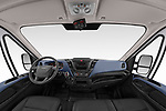 Stock photo of straight dashboard view of 2018 Iveco Daily C 2 Door Refrigerated Van Dashboard