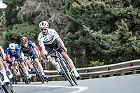World Champion Julian Alaphilippe (FRA/Deceuninck - QuickStep) coming down the Capo Berta<br /> <br /> 112th Milano-Sanremo 2021 (1.UWT)<br /> 1 day race from Milan to Sanremo (299km)<br /> <br /> ©kramon