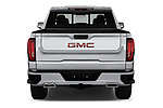 Straight rear view of a 2019 GMC Sierra 1500 Denali Base 4 Door Pick Up stock images