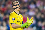 Goalkeeper Bernd Leno of Bayer 04 Leverkusen looks on during their 2016-17 UEFA Champions League Round of 16 second leg match between Atletico de Madrid and Bayer 04 Leverkusen at the Estadio Vicente Calderon on 15 March 2017 in Madrid, Spain. Photo by Diego Gonzalez Souto / Power Sport Images