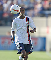 DaMarcus Beasley keeps his eye on the ball. The USA defeated China, 4-1, in an international friendly at Spartan Stadium, San Jose, CA on June 2, 2007.