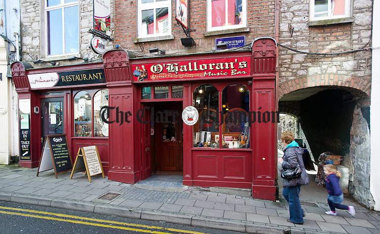 Exterior of Primavera restaurant at O Halloran's Bar. Photograph by John Kelly.