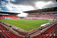 31st October 2020; Bet365 Stadium, Stoke, Staffordshire, England; English Football League Championship Football, Stoke City versus Rotherham United; The Bet365 Stadium awaits the teams for the warm up