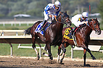 September 07, 2015. Neck 'n Neck (#3), Paco Lopez up, wins the Grade III Greenwood Cup Stakes, one and 1/2 miles, for three-years-olds and upward, at  Parx Racing in Bensalem, PA. Trainer is Ian Wilkes; owner is Ted Mitziaff. (Joan Fairman Kanes/ESW/CSM)