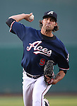 Reno Aces' Matt Buschmann pitches against the Sacramento River Cats at Greater Nevada Field in Reno, Nev., on Tuesday, July 26, 2016.  <br />Photo by Cathleen Allison