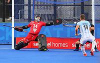 Leon Hayward during the Pro League Hockey match between the Blacksticks men and the Argentina, Nga Punawai, Christchurch, New Zealand, Friday 28 February 2020. Photo: Simon Watts/www.bwmedia.co.nz