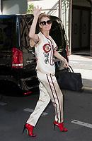 July 17 2017, PARIS FRANCE Singer Celine Dion leaves the Royal Monceau Hotel on<br /> Avenue Hoche