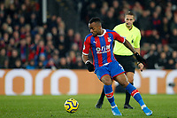 Jordan Ayew of Crystal Palace on the ball during the Premier League match between Crystal Palace and Brighton and Hove Albion at Selhurst Park, London, England on 16 December 2019. Photo by Carlton Myrie / PRiME Media Images.