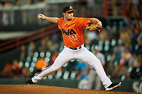 Richmond Flying Squirrels relief pitcher Will LaMarche (33) delivers a pitch during a game against the Trenton Thunder on May 11, 2018 at The Diamond in Richmond, Virginia.  Richmond defeated Trenton 6-1.  (Mike Janes/Four Seam Images)