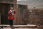 ©PATRICIO CROOKER<br /> La Paz, Bolivia<br /> A picture dated January 21, 2006 shows Bolivian President Evo Morales the day before his official inaguration in the ancient ruins of Tiwanacu in the Bolivian Altiplano.