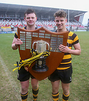 Friday 17th March 2017 | ULSTER SCHOOLS CUP FINAL<br /> <br /> Neil Saulters and Rhys O'Donnell after the Ulster Schools Cup Final between RBAI and MCB at Kingspan Stadium, Ravenhill Park, Belfast, Northern Ireland.<br /> <br /> Photograph by John Dickson | www.dicksondigital.com