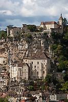 Europe/Europe/France/Midi-Pyrénées/46/Lot/Rocamadour:  Le village perché et la cité religieuse et ses sanctuaires dominé par  le Château