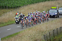 The first lap peloton group in action during the NZCT Women's Cycle Tour of New Zealand Stage 4 at Palmerston North, New Zealand on Saturday, 25 February 2012. Photo: Dave Lintott / lintottphoto.co.nz