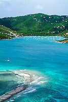 Aerial View of Coral Bay<br /> St. John<br /> U.S. Virgin Islands