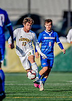 26 October 2019: University of Vermont Catamount Midfielder Alex Nagy, a Sophomore from Bow, NH, in second half action against the University of Massachusetts Lowell River Hawks at Virtue Field in Burlington, Vermont. The Catamounts rallied to defeat the River Hawks 2-1, propelling the Cats to the America East Division 1 conference playoffs. Mandatory Credit: Ed Wolfstein Photo *** RAW (NEF) Image File Available ***