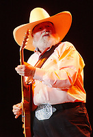 "06 July 2020 - Country music and southern rock legend Charlie Daniels has passed away after suffering a stroke. The Grand Ole Opry member and Country Music Hall of Famer was 83. File Photo: 06 July 2007 - Pittsburgh, Pennsylvania -  Country music legend CHARLIE DANIELS performs as a part of the ""VOLUNTEER JAM TOUR 2007"" held at the Post-Gazette Pavilion. Photo Credit: Jason L Nelson/AdMedia"