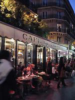Evening at the cafe, Paris