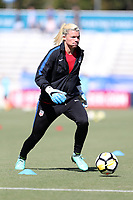 Cary, NC - Sunday October 22, 2017: Jane Campbell prior to an International friendly match between the Women's National teams of the United States (USA) and South Korea (KOR) at Sahlen's Stadium at WakeMed Soccer Park. The U.S. won the game 6-0.