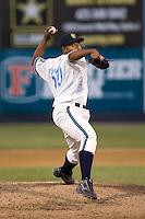 June 25, 2008:  The Everett AquaSox's Eddy Fernandez pitches against the Boise Hawks at Everett Memorial Stadium in Everett, Washington.