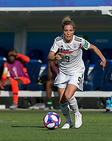 GRENOBLE, FRANCE - JUNE 22: Svenja Huth #9 of the German National Team dribbles at midfield during a game between Panama and Guyana at Stade des Alpes on June 22, 2019 in Grenoble, France.