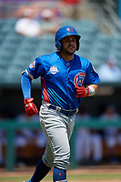 Tennessee Smokies Vimael Machin (1) during a Southern League game against the Jacksonville Jumbo Shrimp on April 29, 2019 at Baseball Grounds of Jacksonville in Jacksonville, Florida.  Tennessee defeated Jacksonville 4-1.  (Mike Janes/Four Seam Images)