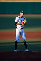 USF Bulls starting pitcher Shane McClanahan (8) gets ready to deliver a pitch during a game against the UConn Huskies on March 23, 2018 at USF Baseball Stadium in Tampa, Florida.  UConn defeated USF 6-4.  (Mike Janes/Four Seam Images)