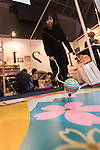 An exhibitor gives a demonstration of a traditional Japanese game during the Moshi Moshi Nippon Festival 2016 on November 26, 2016 in Tokyo, Japan. Moshi Moshi Nippon Festival 2016 aims to promote Japanese pop culture (fashion, anime, technology, music and food) to the world, and non-Japanese visitors are able to enter the event for free by showing their passport. This year's two day event included live shows by Japanese pop stars Silent Siren, Dempagumi.inc, Tempura Kids, Capsule and Kyary Pamyu Pamyu at the Tokyo Metropolitan Gymnasium. (Photo by Rodrigo Reyes Marin/AFLO)
