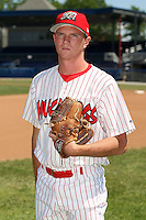 June 30th, 2007:  Josh Wilson of the Batavia Muckdogs, Short-Season Class-A affiliate of the St. Louis Cardinals at Dwyer Stadium in Batavia, NY.  Photo by:  Mike Janes/Four Seam Images