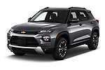 2021 Chevrolet Trailblazer LT 5 Door SUV Angular Front automotive stock photos of front three quarter view
