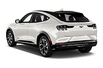 Car pictures of rear three quarter view of 2021 Ford Mustang-Mach-E - 5 Door SUV Angular Rear