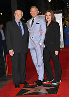LOS ANGELES, CA. October 06, 2021: Michael G. Wilson, Daniel Craig & Barbara Broccoli on Hollywood Boulevard where he was honored with a star on the Hollywood Walk of Fame. <br /> Picture: Paul Smith/Featureflash