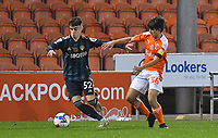 Blackpool's Rob Apter<br /> <br /> Photographer Dave Howarth/CameraSport<br /> <br /> EFL Trophy - Northern Section - Group G - Blackpool v Leeds United U21 - Wednesday 11th November 2020 - Bloomfield Road - Blackpool<br />  <br /> World Copyright © 2020 CameraSport. All rights reserved. 43 Linden Ave. Countesthorpe. Leicester. England. LE8 5PG - Tel: +44 (0) 116 277 4147 - admin@camerasport.com - www.camerasport.com